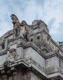 Architettura alla centrale di Milano, Milano, Italia Fotografia Stock Libera da Diritti
