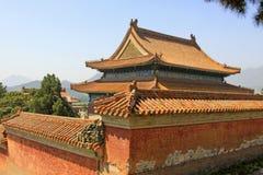 Architettura antica cinese nelle tombe reali orientali della Q Immagini Stock