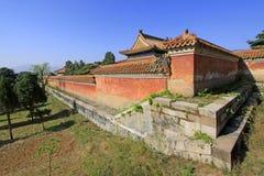 Architettura antica cinese nelle tombe reali orientali della Q Fotografie Stock Libere da Diritti