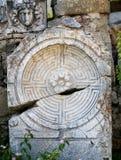 Architettura antica con un labirinto Fotografie Stock Libere da Diritti