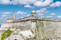 Architettura antica in Habana, Cuba Fotografia Stock Libera da Diritti