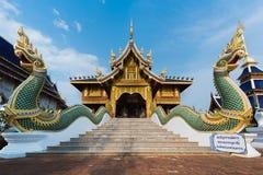 Architettura antica in tempio buddista Immagini Stock