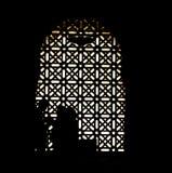 Architettura araba nella cattedrale di Mezquita Immagini Stock