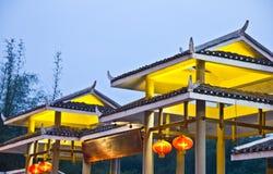 Architettura asiatica tipica Fotografia Stock Libera da Diritti