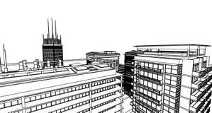 Architettura astratta illustrazione di stock