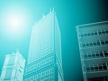 architettura astratta 3d Immagini Stock