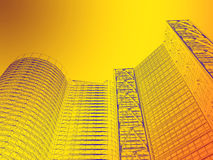 architettura astratta 3d Immagine Stock