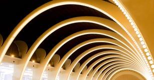 Architettura astratta della curva Fotografie Stock Libere da Diritti