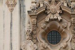 Architettura barrocco della facciata Fotografie Stock