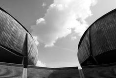 Architettura in bianco e nero astratta Fotografia Stock Libera da Diritti