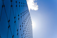 Architettura blu fredda dell'acciaio e di vetro Immagini Stock