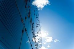 Architettura blu fredda dell'acciaio e di vetro Fotografia Stock Libera da Diritti