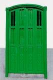 Architettura-canarino Porta-spagnolo verde Isl , La Spagna fotografia stock libera da diritti