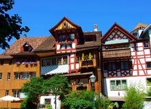 architettura, casa, costruzione, casa, tempio, tetto, vecchio, cielo, antico, rosso, tradizionale Fotografia Stock