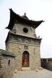 Architettura cinese tipica, posto di guardia Fotografie Stock Libere da Diritti