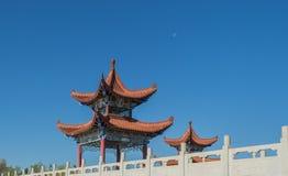 Architettura cinese - un padiglione Fotografie Stock Libere da Diritti