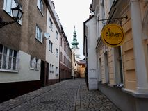 Architettura in Città Vecchia di Bratislava Immagine Stock Libera da Diritti