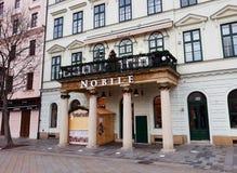 Architettura in Città Vecchia di Bratislava Immagine Stock