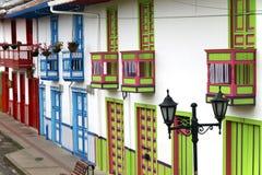 Architettura coloniale colombiana Immagine Stock Libera da Diritti