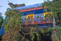 Architettura coloniale Colourful a Monterrey Messico Immagini Stock Libere da Diritti