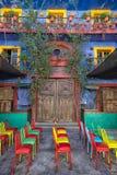 Architettura coloniale Colourful nel Messico Fotografia Stock Libera da Diritti