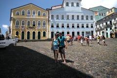 Architettura coloniale di Salvador - Pelourinho, Brasile 2017 immagini stock libere da diritti