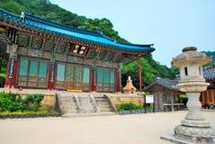 Architettura coreana del tempiale Fotografie Stock Libere da Diritti