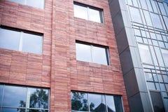 Architettura d'acciaio e di vetro Fotografie Stock