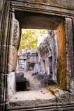 Architettura del buddista anziano nel parco archeologico di Angkor Monumento della Cambogia - Siem Reap Paesaggio popolare di fil Fotografie Stock