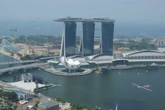 Architettura del centro di affari di Singapore Immagini Stock