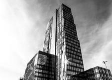 Architettura del centro urbano moderno di Almere foto bianca Nero Immagini Stock Libere da Diritti