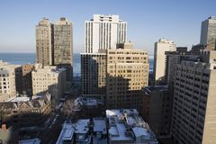 Architettura del Chicago Fotografia Stock Libera da Diritti