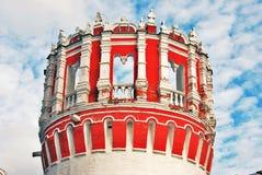 Architettura del convento di Novodevichy a Mosca fotografie stock libere da diritti