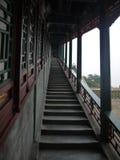 Architettura del corridoio cinese della scala Fotografia Stock