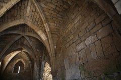 Architettura del crociato a Cesarea, Israele Immagine Stock Libera da Diritti