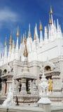 Architettura del monastero della Tailandia del Nord fotografia stock