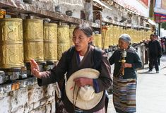 Architettura del monastero a Lhasa, Tibet fotografie stock