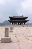 Architettura del palazzo di Gyeongbokgung Fotografie Stock Libere da Diritti