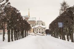 Architettura del parco di Kuskovo a Mosca fotografia stock libera da diritti