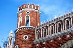 Architettura del parco di Tsaritsyno a Mosca Ponticello calcolato Immagini Stock