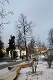 Architettura del parco di Zaryadye a Mosca Punto di riferimento popolare fotografia stock
