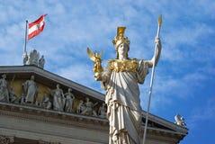 Architettura del Parlamento del Athene di Vienna Pallas Fotografie Stock