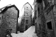 Architettura del ` s di Casso, provata dalla tragedia di Vajont di 1963, ottobre Immagini Stock Libere da Diritti