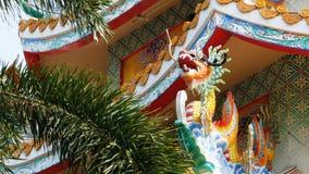 Architettura del tempio cinese Bangsaen in Tailandia Aspetto esterno archivi video