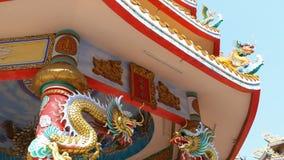 Architettura del tempio cinese Bangsaen in Tailandia Aspetto esterno video d archivio