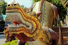 Architettura del tempio dello stairhead in Chiangmai Tailandia Fotografia Stock