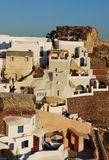 Architettura del villaggio di Oia Fotografie Stock