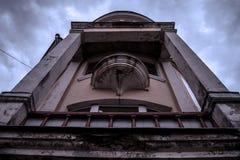 Architettura dell'era di Stalin fotografia stock