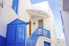 Architettura dell'isola di Mykonos, Grecia Immagine Stock Libera da Diritti