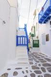 Architettura dell'isola di Mykonos, Grecia Immagini Stock